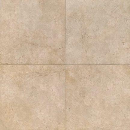 Pavimento in gres porcellanato effetto quarzo. Tonalità calda. 4 piastrelle affiancate in vista dall'alto.