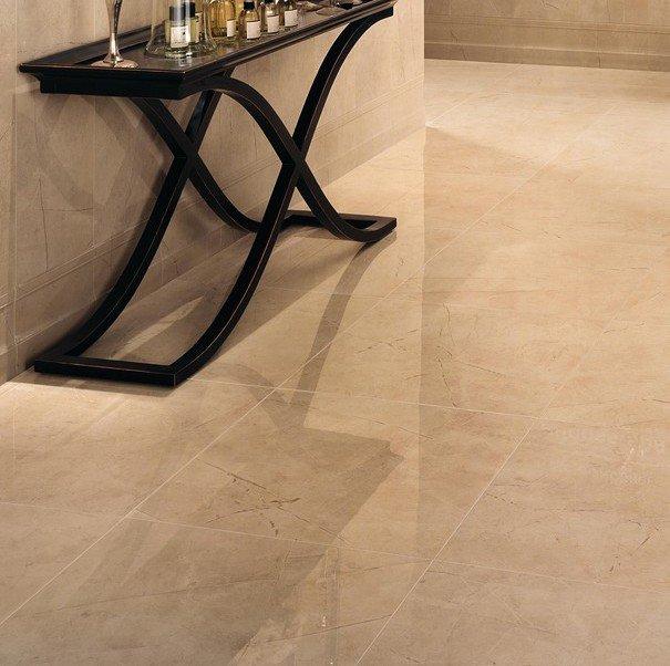 pavimento effetto marmo beige