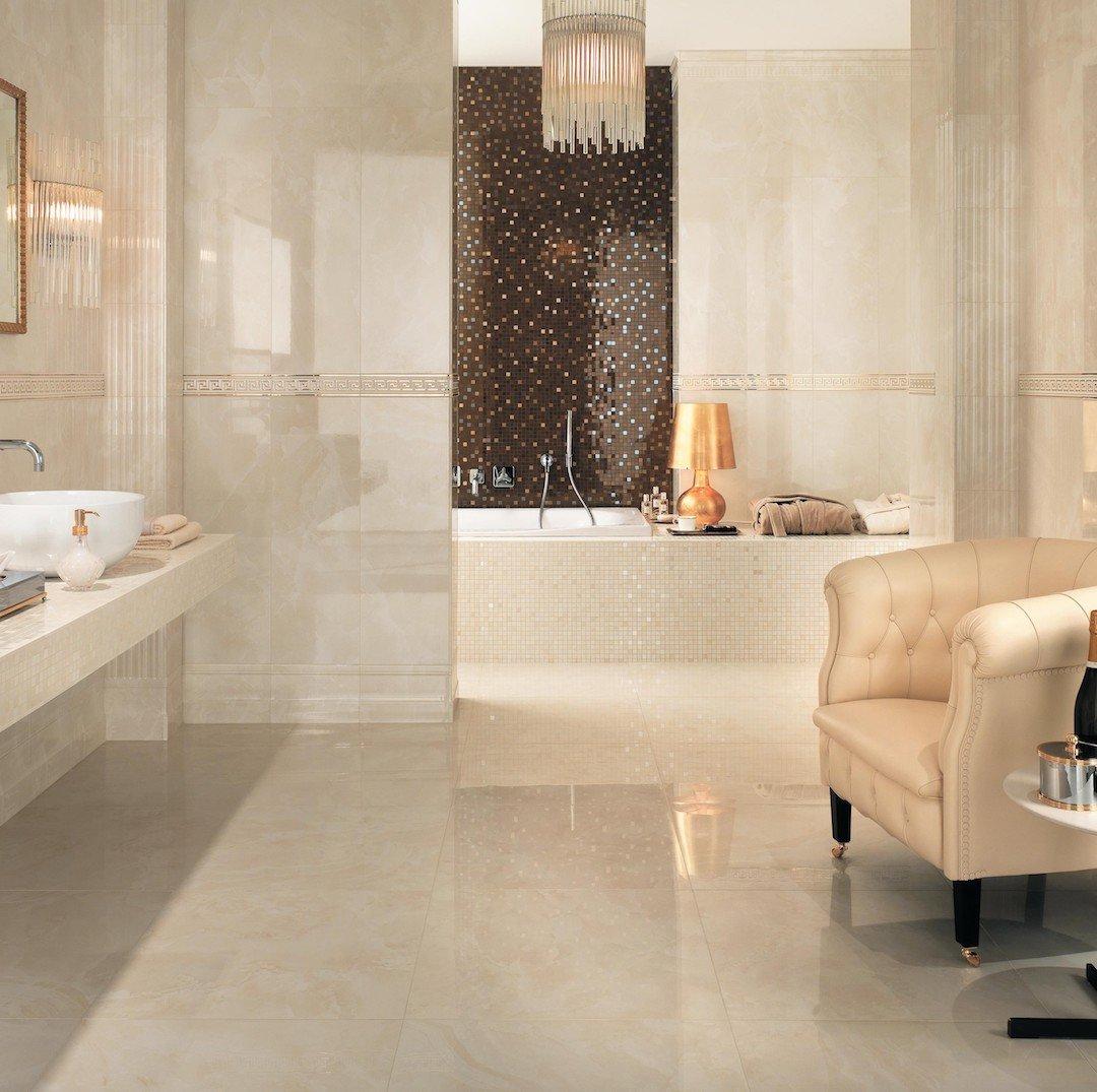 pavimento effetto marmo colore sabbia