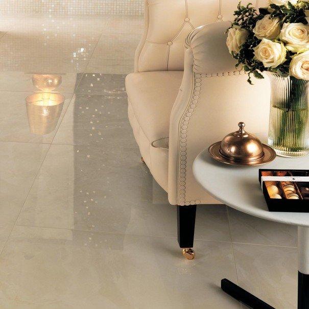 Pavimento in gres porcellanato effetto marmo